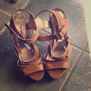 Strapped Tan heels